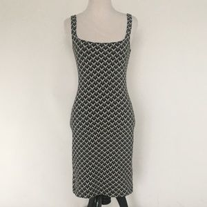 American Apparel Houndstooth Bodycon Midi Dress